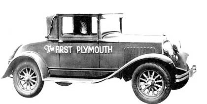 The first plymouth off the asslembly line.