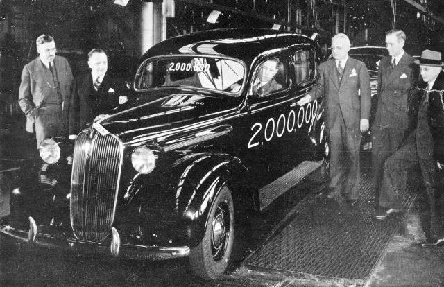 Two millionth Plymouth comes off assembly line.